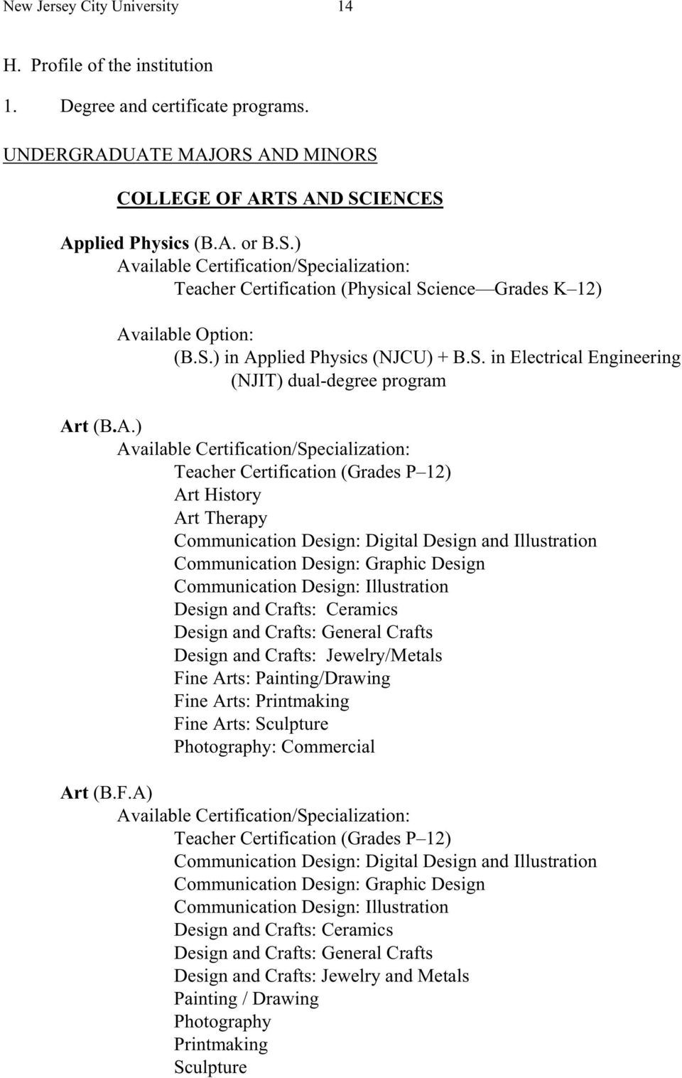 plied Physics (NJCU) + B.S. in Electrical Engineering (NJIT) dual-degree program Ar