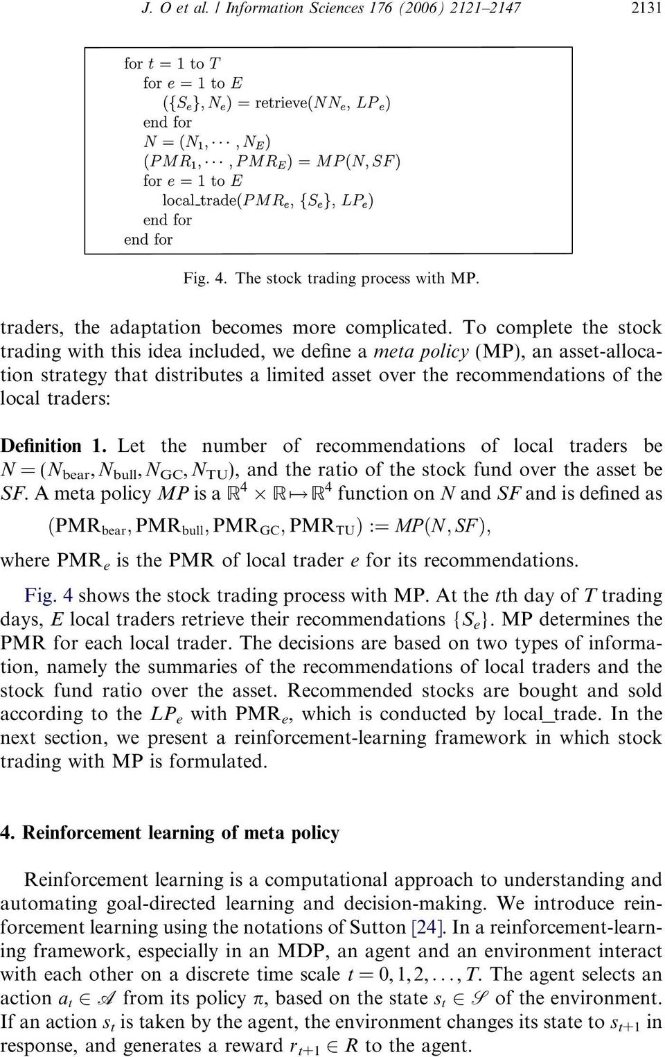 Adaptive stock trading with dynamic asset allocation using