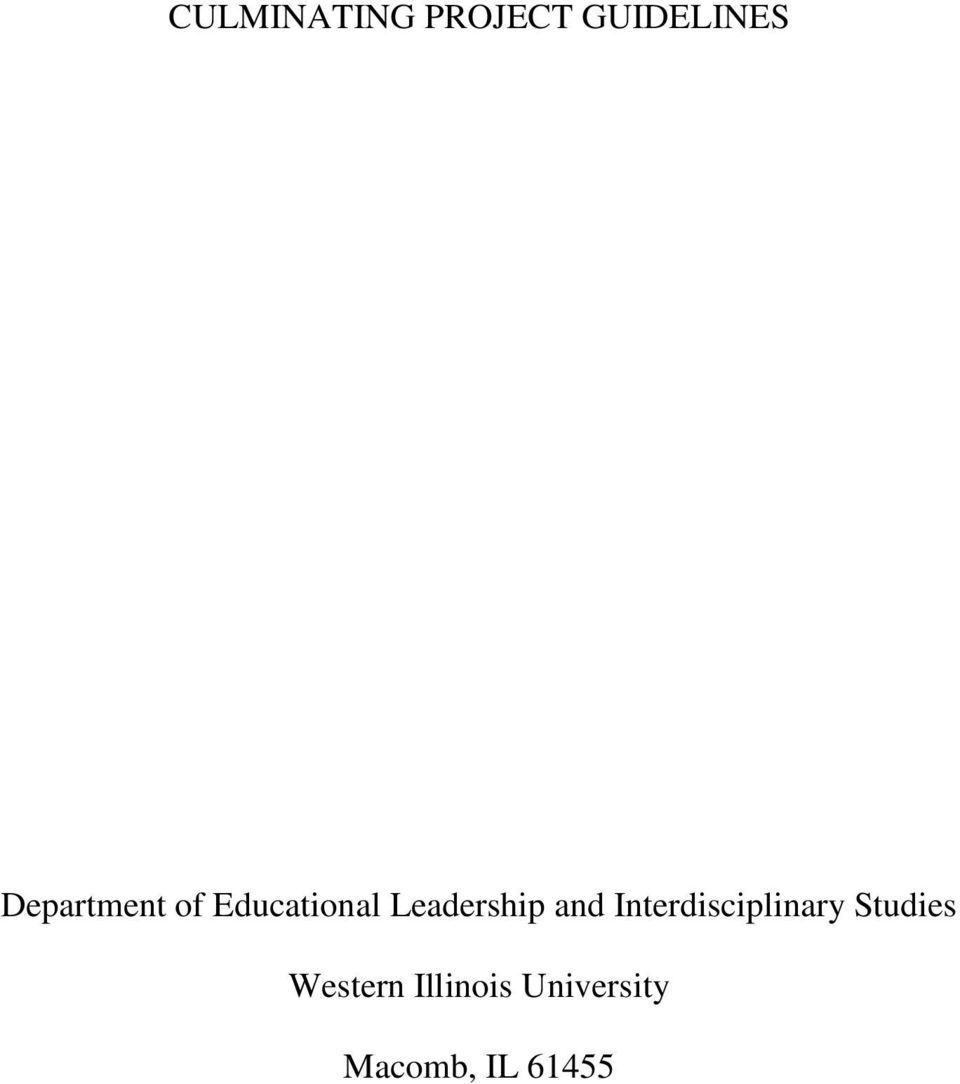 Leadership and Interdisciplinary