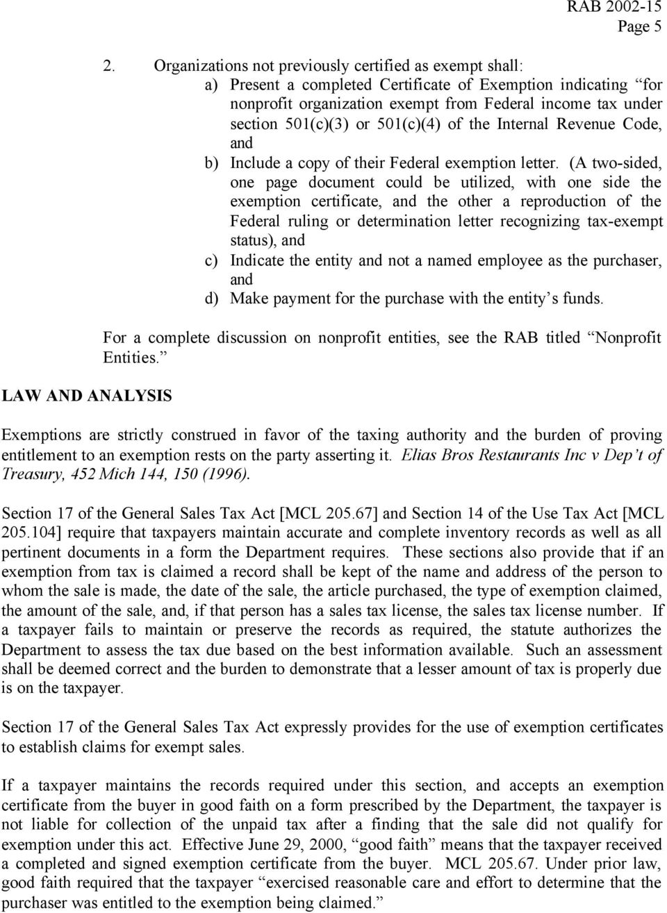 Revenue Administrative Bulletin Approved June 10 2002 Sales And