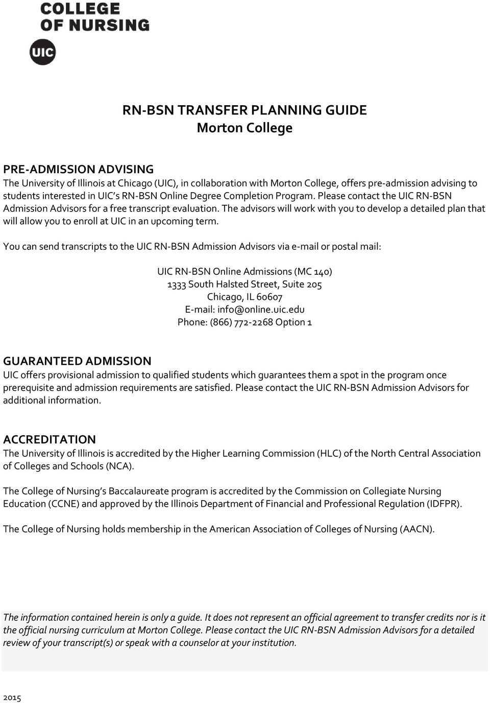 Transfer guide | uic admissions.