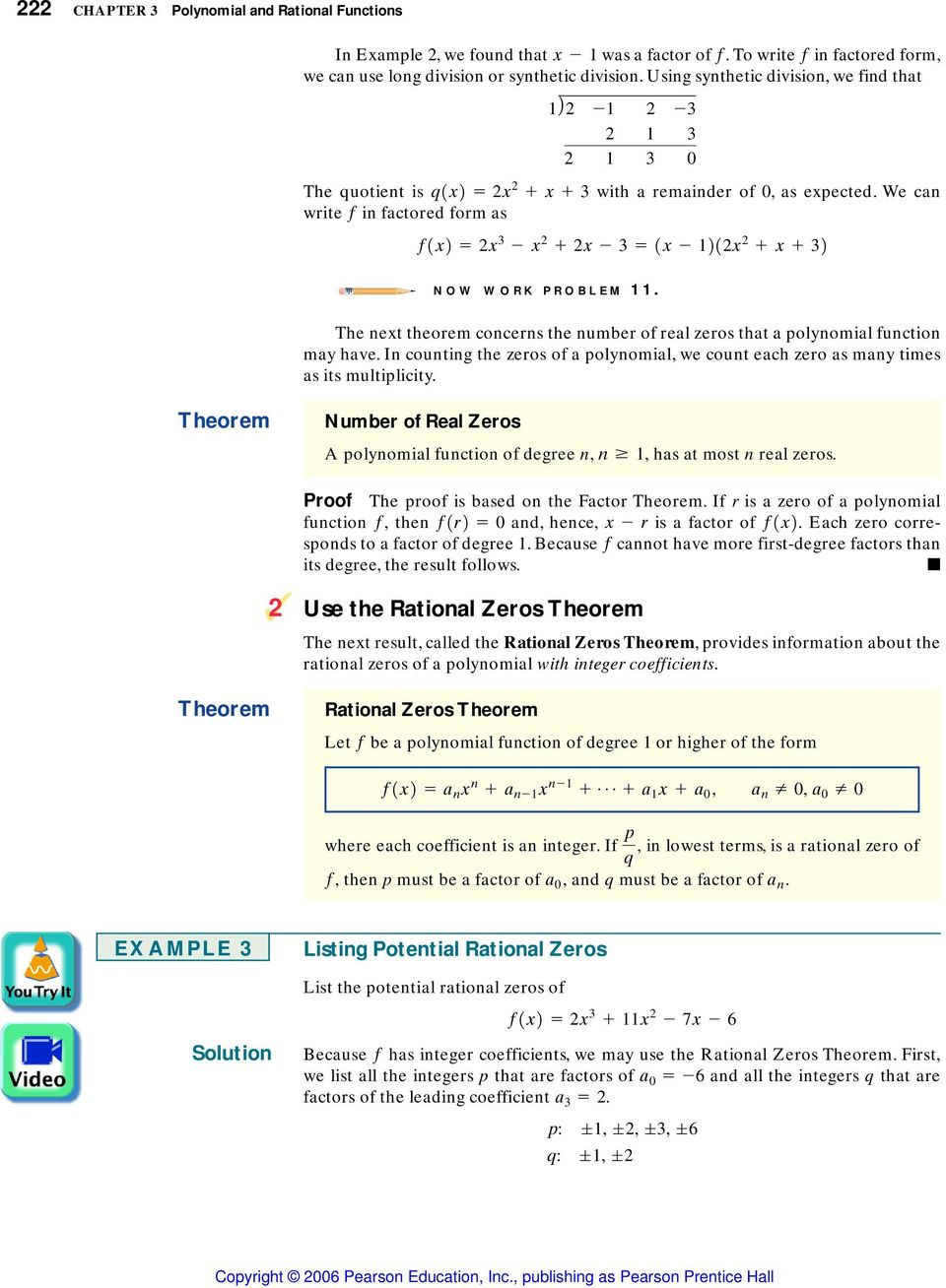 3 6 The Real Zeros of a Polynomial Function - PDF