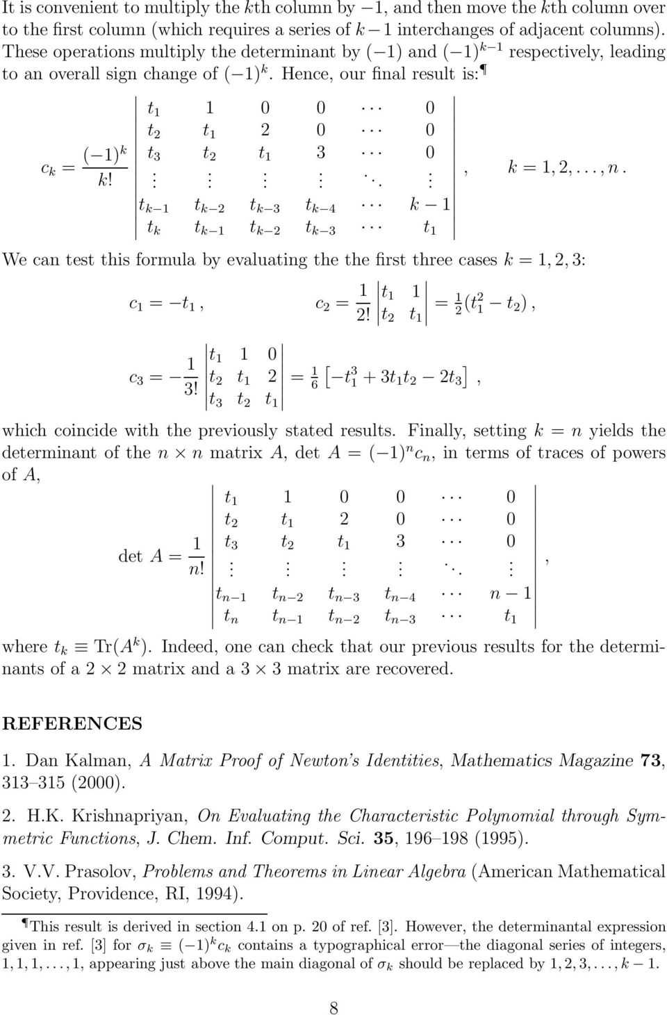 The Characteristic Polynomial - PDF