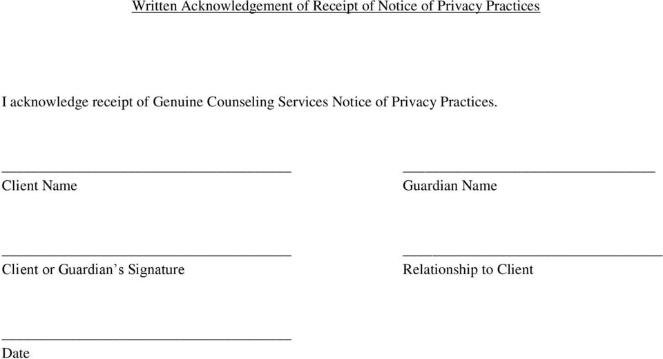 Services Notice of Privacy Practices.