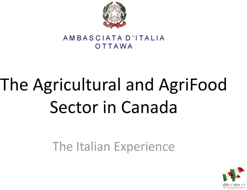 Agricultural and AgriFood