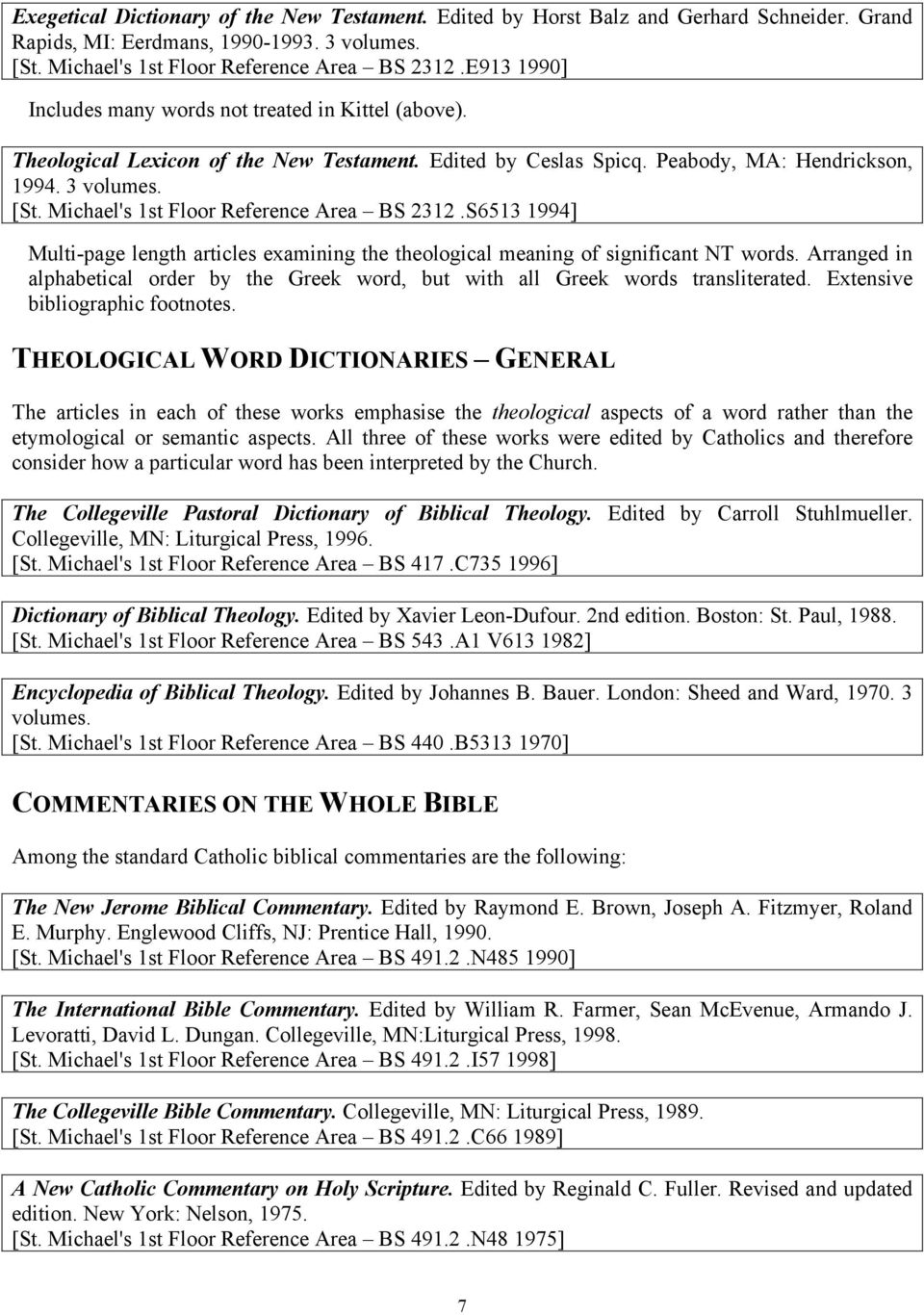 Research Guide to The Bible - PDF