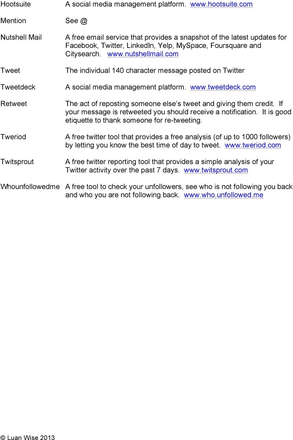 A short guide to Twitter - PDF