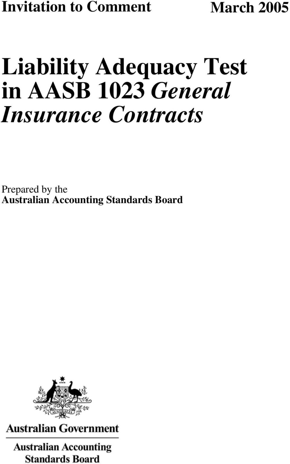 General Insurance Contracts Prepared
