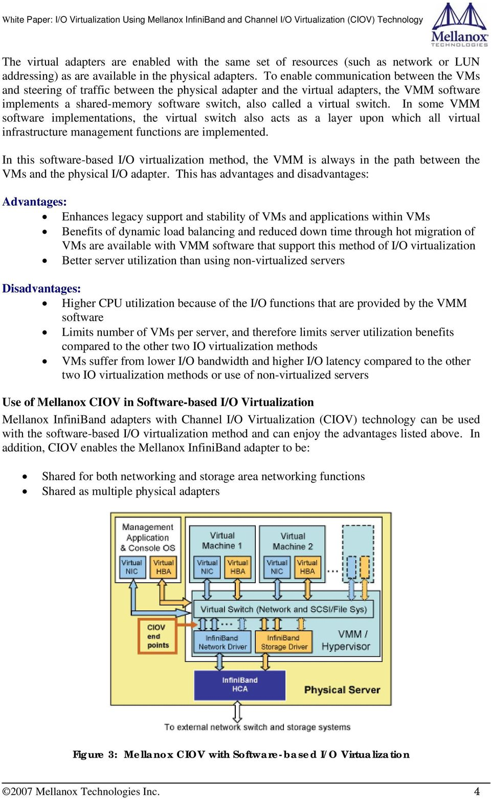 I/O Virtualization Using Mellanox InfiniBand And Channel I/O