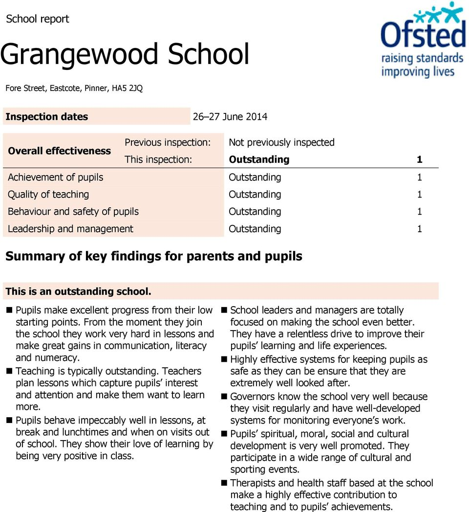 parents and pupils This is an outstanding school. Pupils make excellent progress from their low starting points.