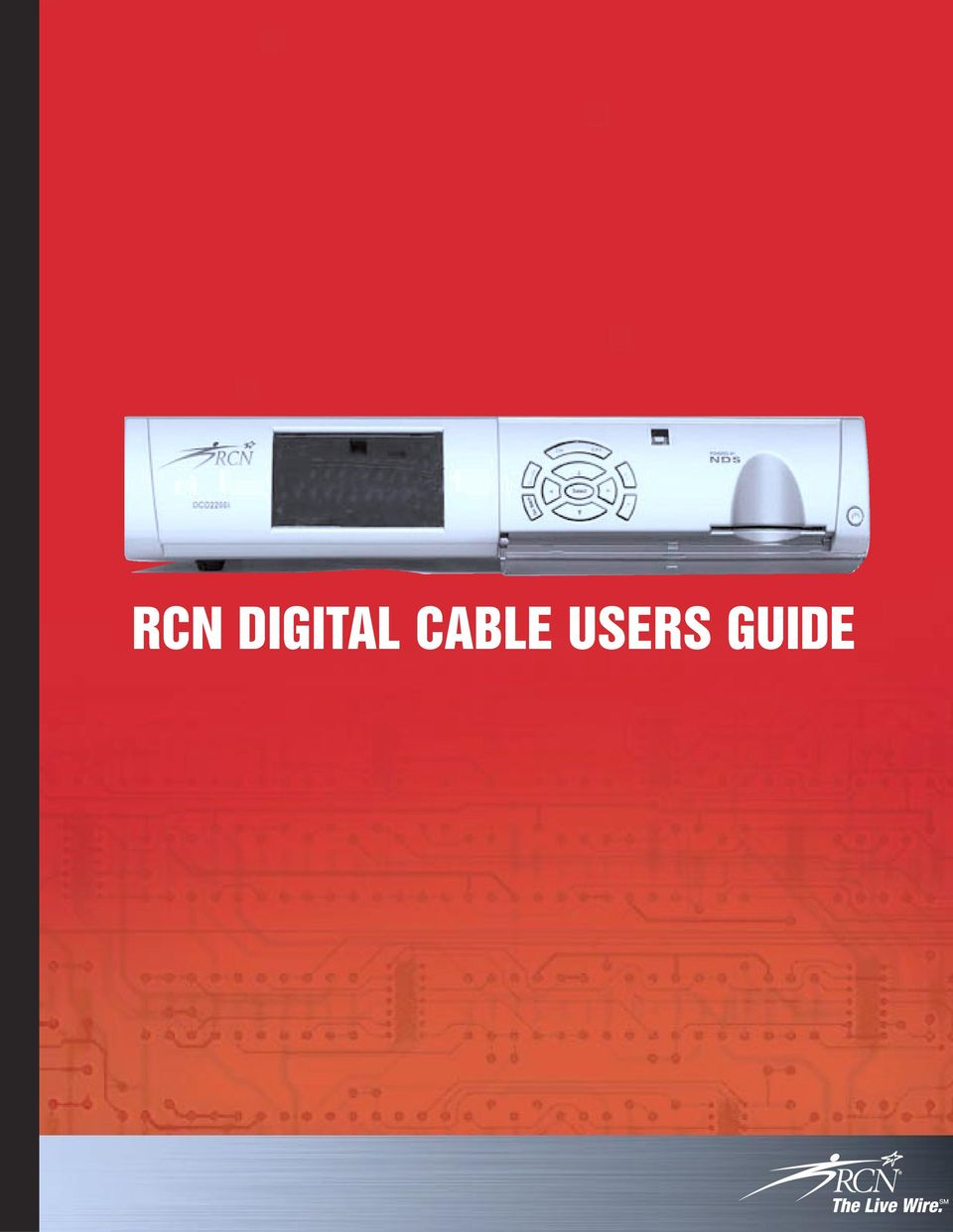 RCN DIGITAL CABLE USERS GUIDE - PDF