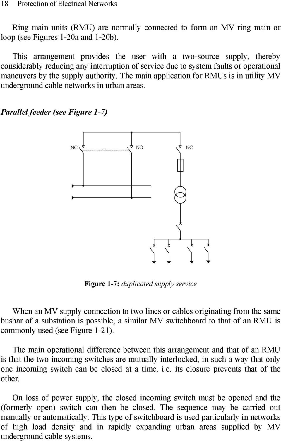 Chapter 1 Network Structures Pdf Electrical Ring Main Diagram The Application For Rmus Is In Utility Underground Cable Networks Urban Areas