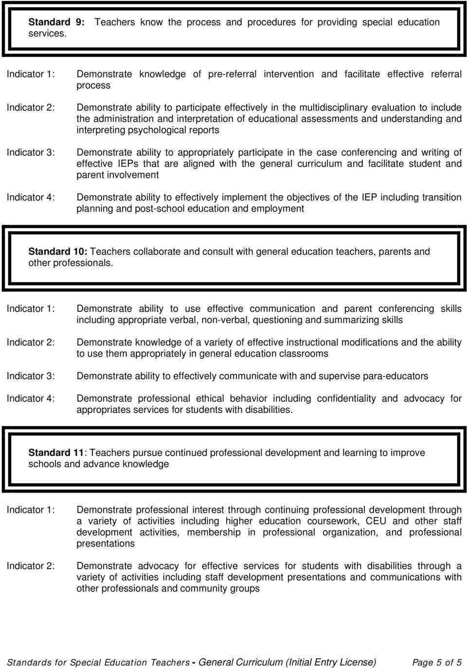 administration and interpretation of educational assessments and understanding and interpreting psychological reports Demonstrate ability to appropriately participate in the case conferencing and