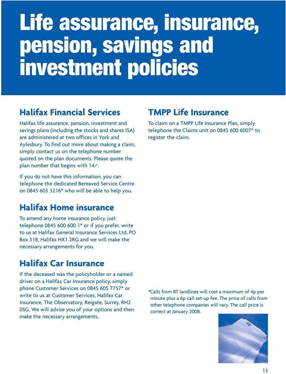 Bereavement Advice Help And Understanding From The Halifax And Bank Of Scotland Pdf Free Download