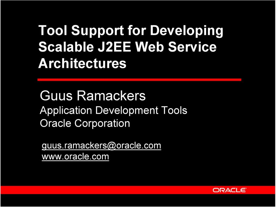 Application Development Tools Oracle