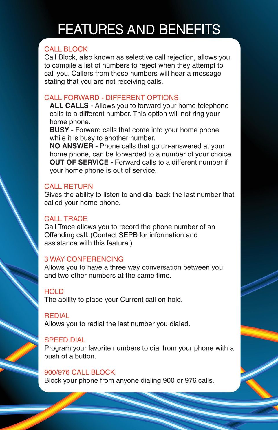 DIGITAL PHONE SERVICE  Customer Reference Guide - PDF