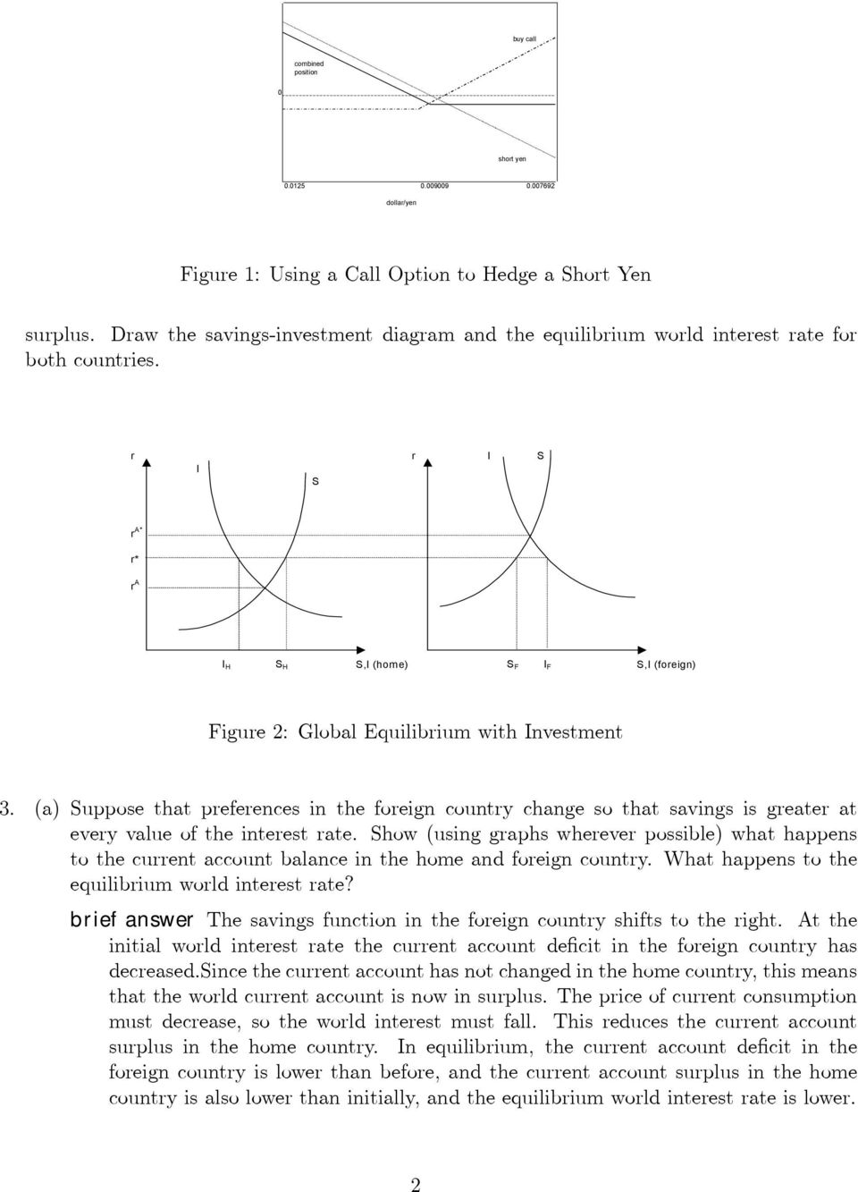 r r I S I S r A* r* r A I H S H S,I (home) S F I F S,I (foreign) Figure 2: Global Equilibrium with Investment 3.
