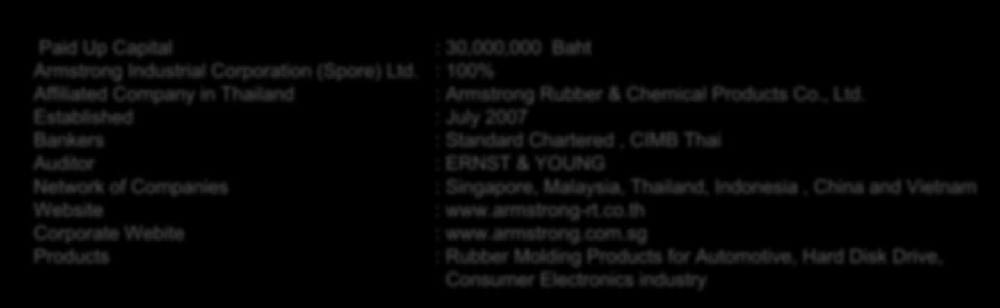 Company Profile ARMSTRONG GROUP OF COMPANIES THAILAND ARC2