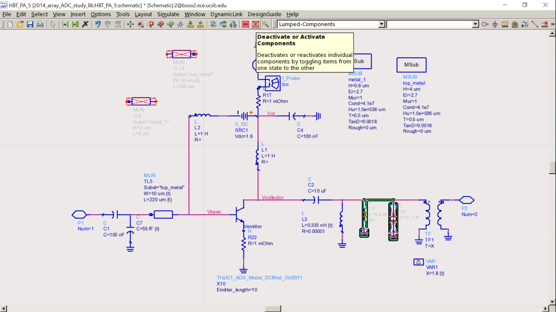 Power Amplifiers Class A Pdf Circuit Diagram Of 150w Amplifier Design Example Cell 20 Micron Emitter Finger Bias