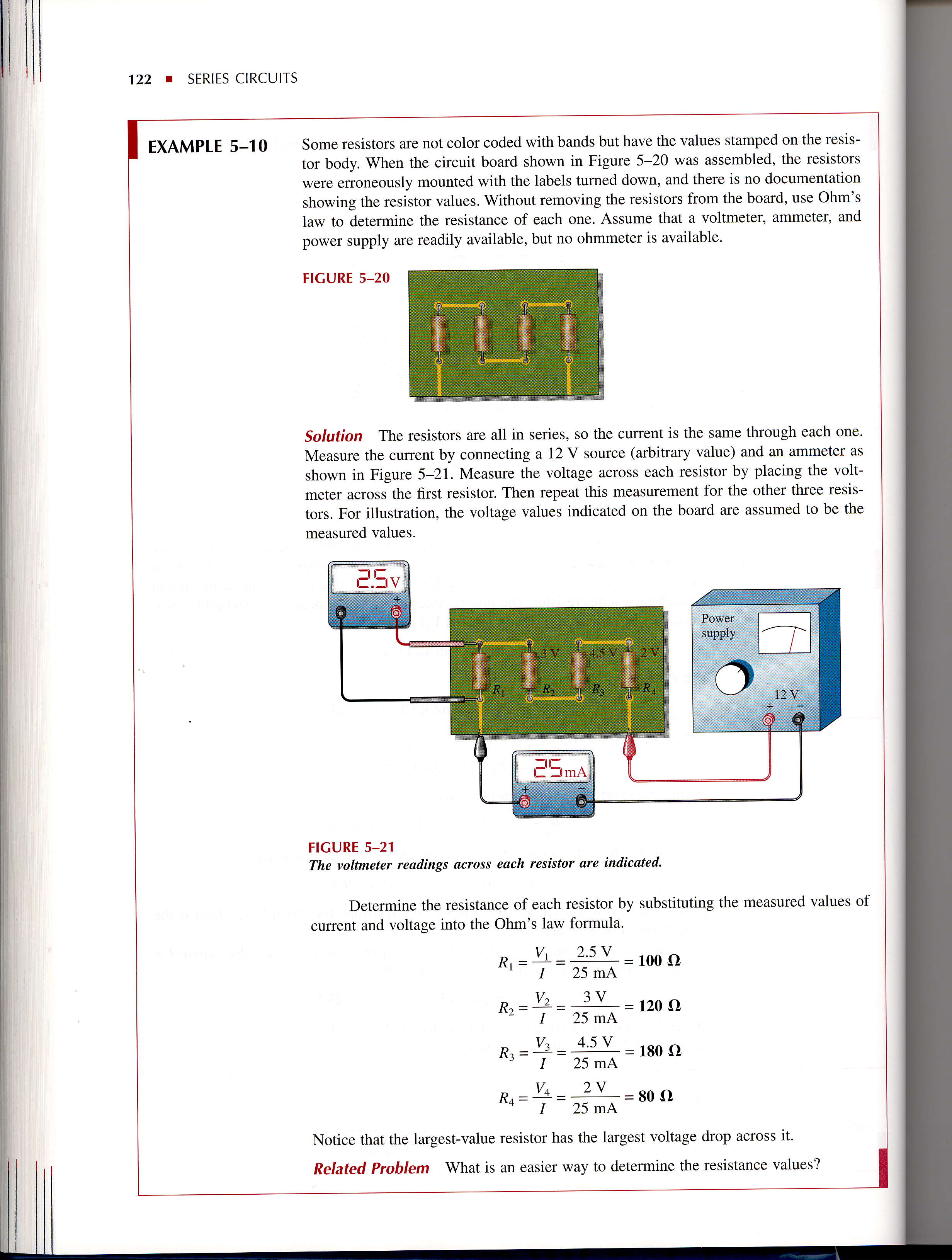 Series Circuits R Introduction Pdf Gt Simple Example For The Lm386 Ic Audio Amplifier Seriescircuits 5 10 Some Resistors Are Not Color Coded With Bands But Have