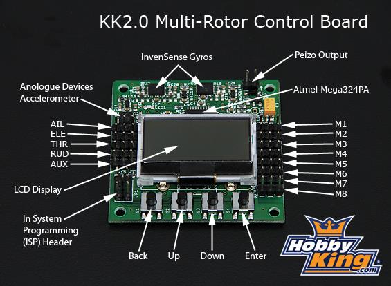 1 hobbyking kk2 0 multi rotor lcd flight control board pdf rh docplayer net