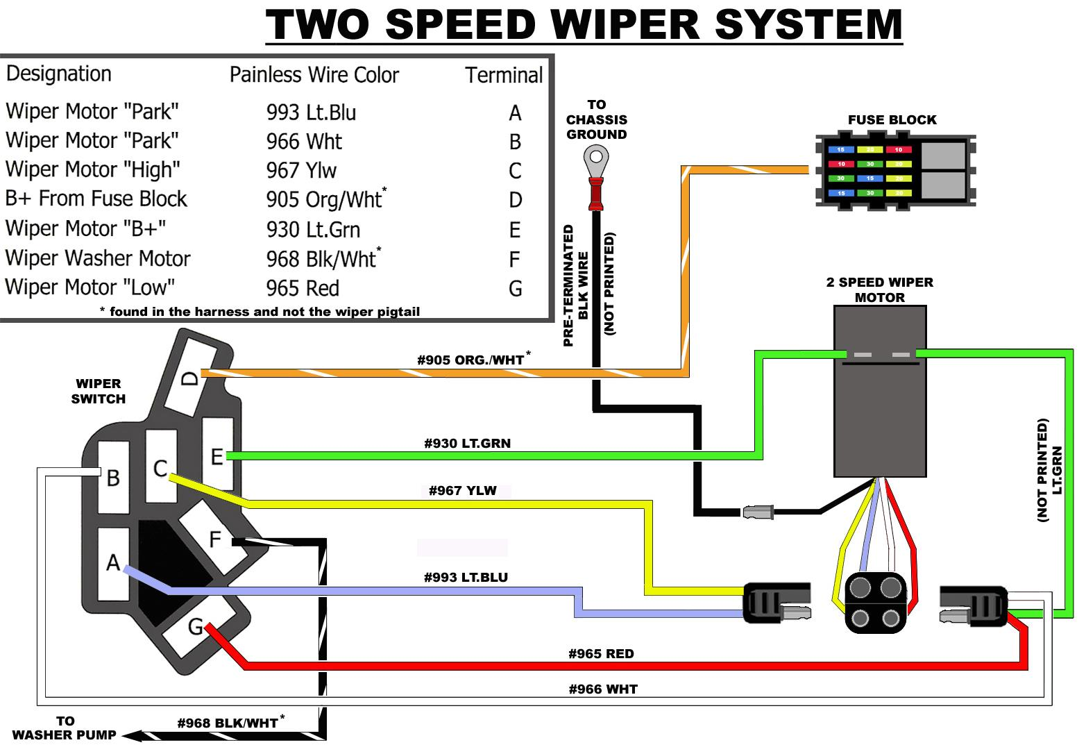 Wire Harness Installation Instructions Pdf Mgb Wiper Switch Wiring Single Speed And Two For