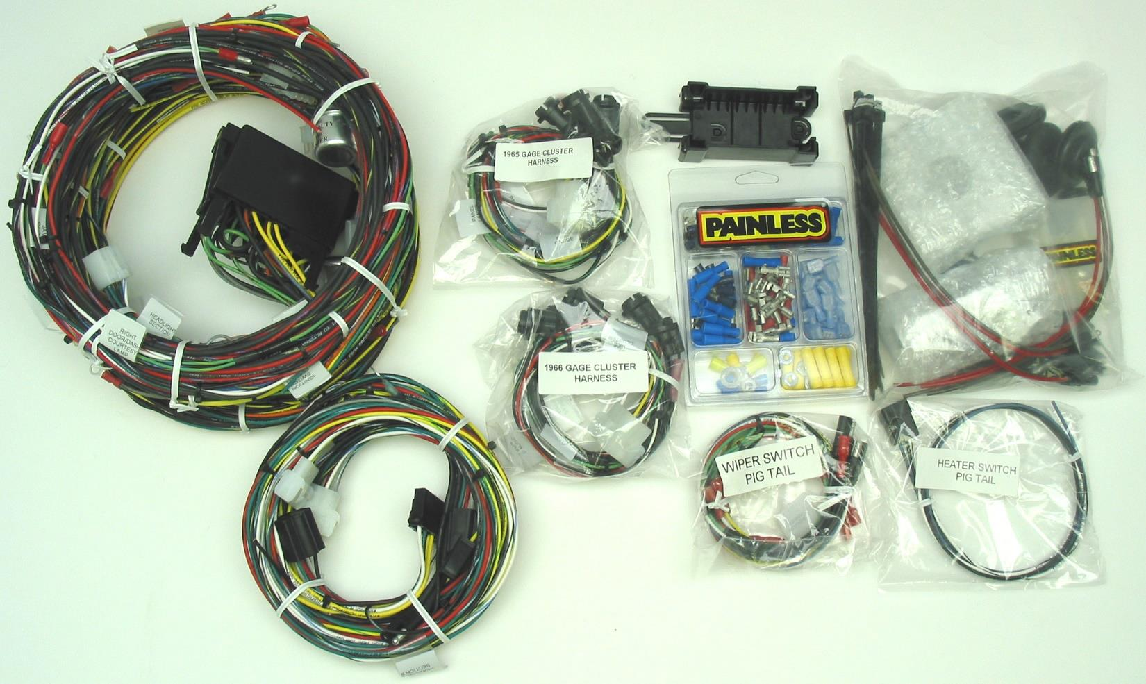 Wire Harness Installation Instructions Pdf Painless Wiring Diagram Panel 6 Bag Kit Containing 3 Types Of Nylon Tie Wraps 10 Instrument Light Bulbs