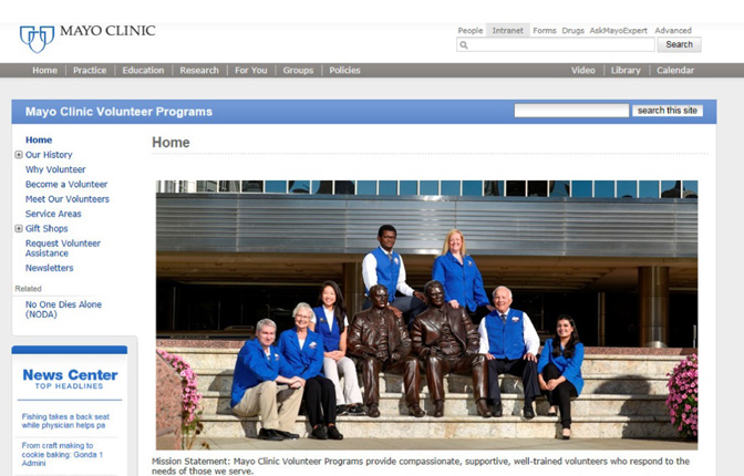 Mayo Clinic Volunteer Programs  Annual Report uniting for the good