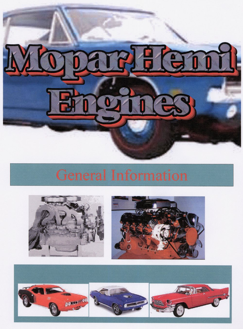 Table of Contents  Early Hemi Engine Casting Numbers  Hemi