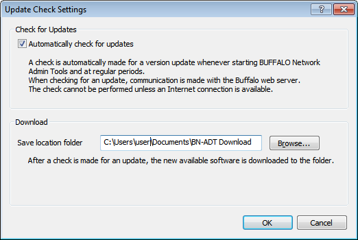 User Manual  Buffalo Network Admin Tools for NAS (BN-ADT/NAS
