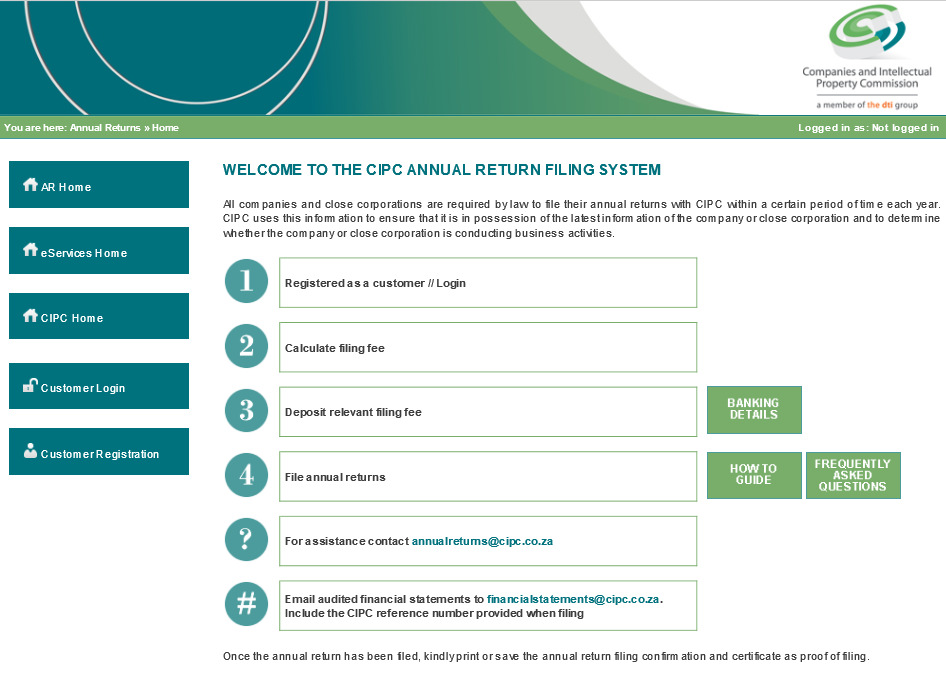 investment banking details cipc