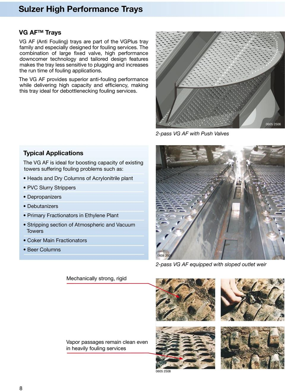 Trays for any Application  Sulzer Chemtech - PDF
