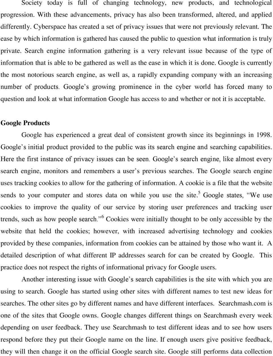 Google: Trust, Choice, and Privacy - PDF