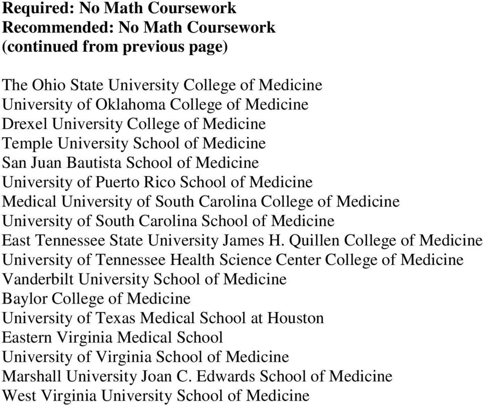 School of Medicine East Tennessee State University James H.