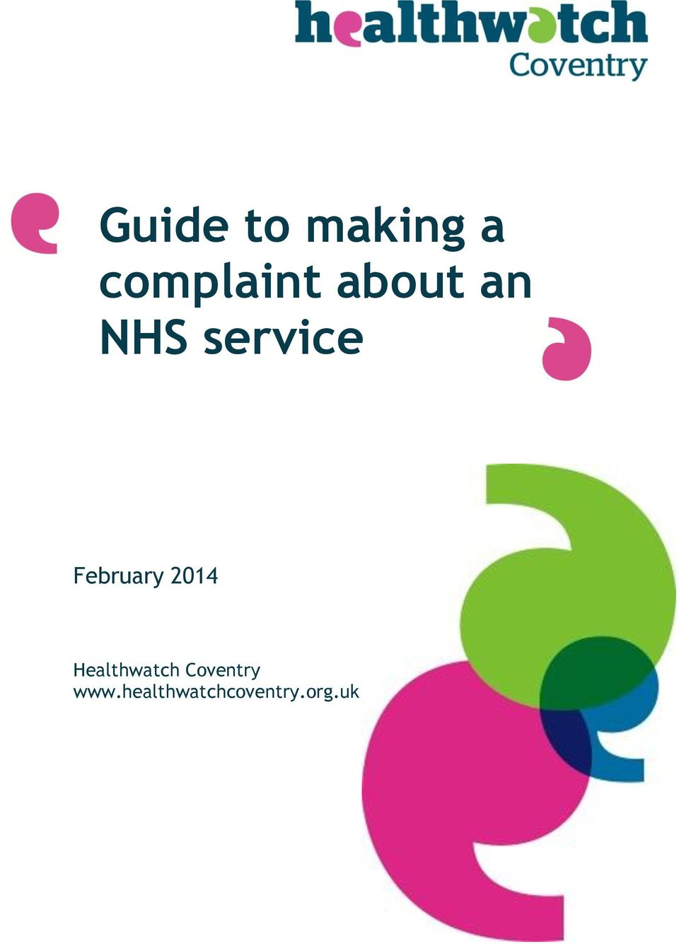 February 2014 Healthwatch