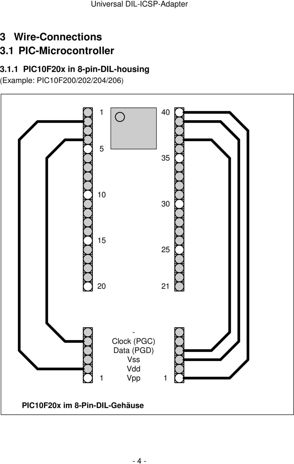 Universal Icsp Programming Adapter For All Pic S In Dil Housings Pdf Circuits Circuit Serial Board Based On Pic16f84 Picfx 8pindilhousing
