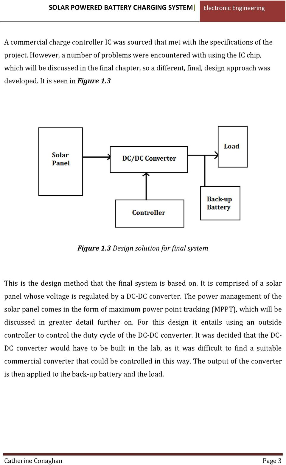 Solar Powered Battery Charging System Pdf Advanced Tutorials Wiring Diagrams For Energy Systems 3 Figure 13 Design Solution Final This Is The Method That