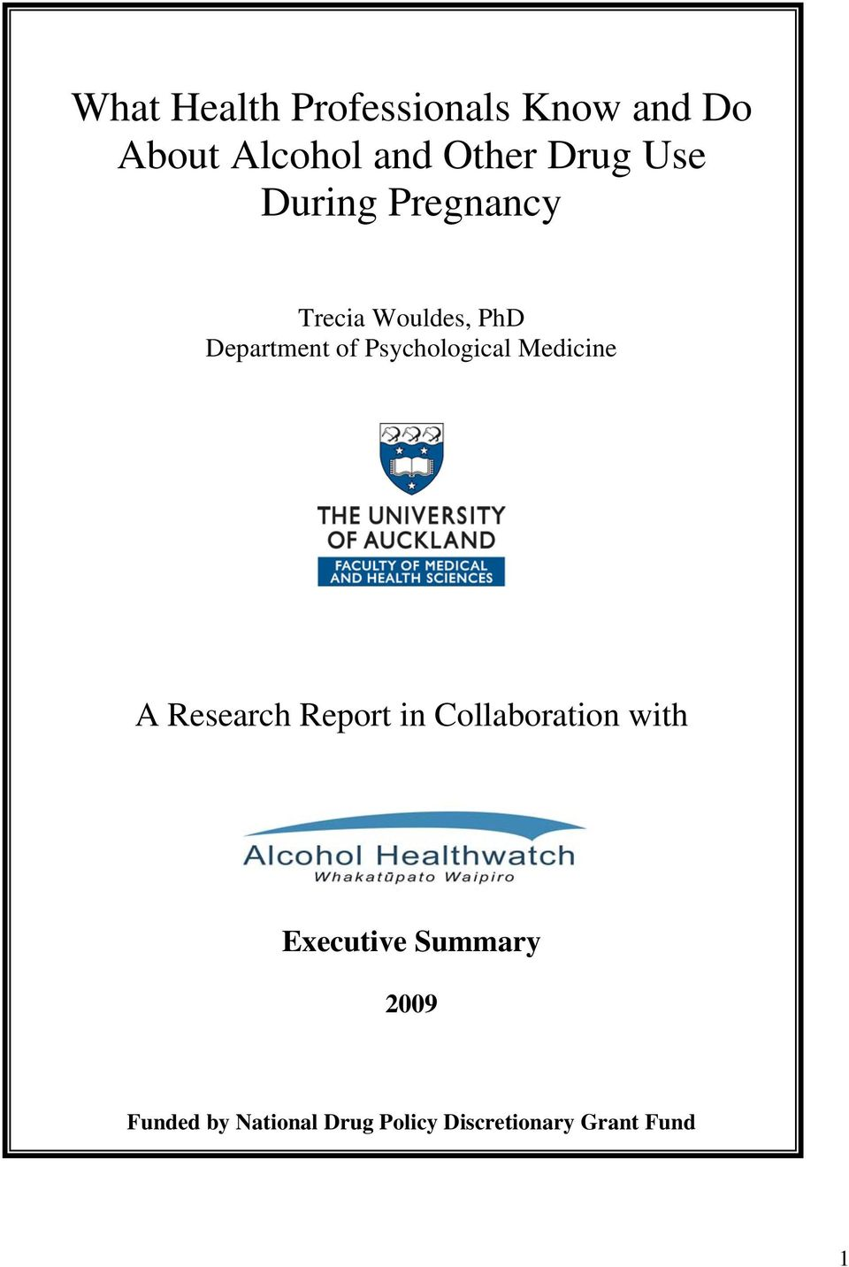 Psychological Medicine A Research Report in Collaboration with