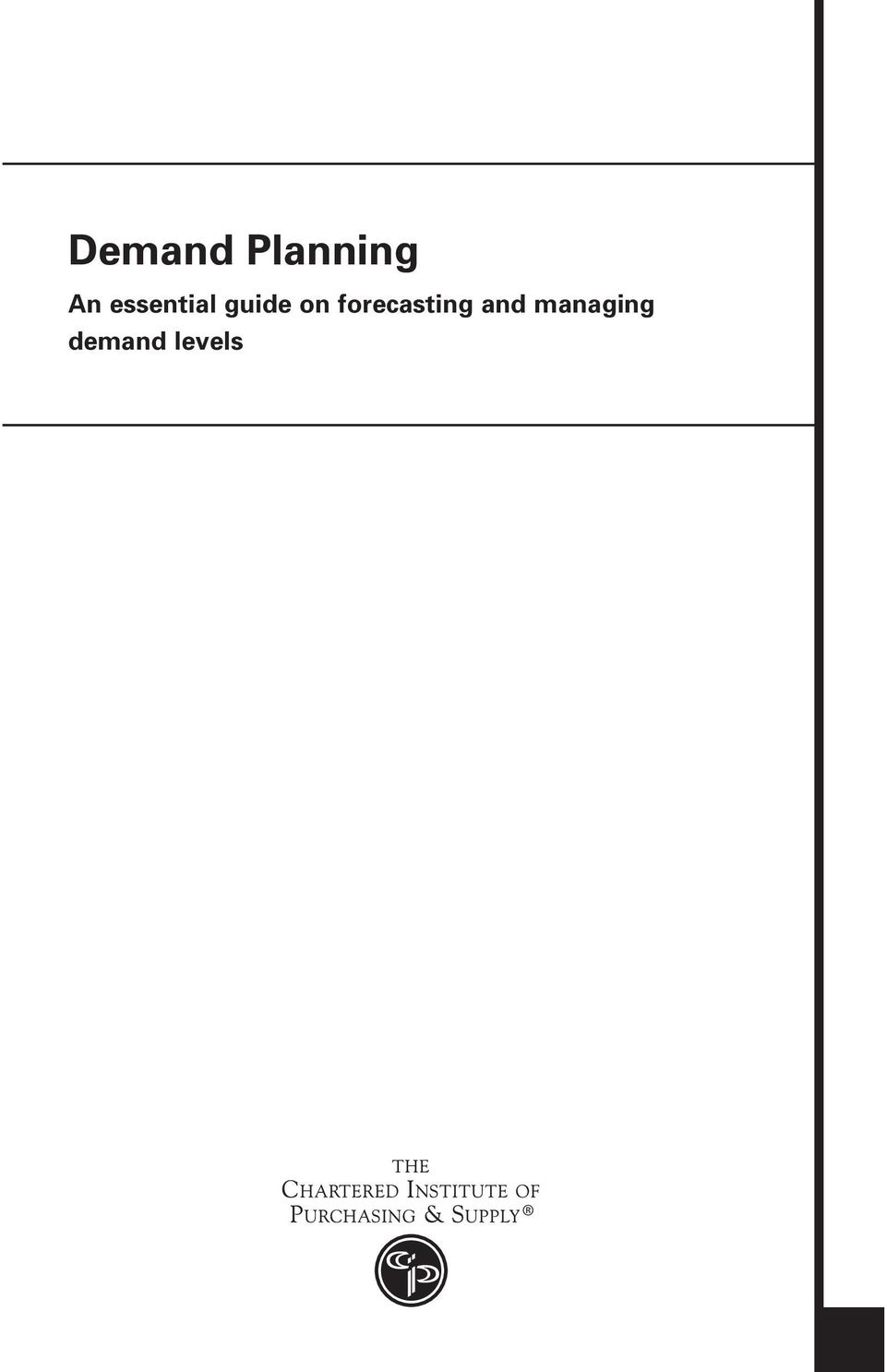 Demand planning  A professional guide on forecasting and