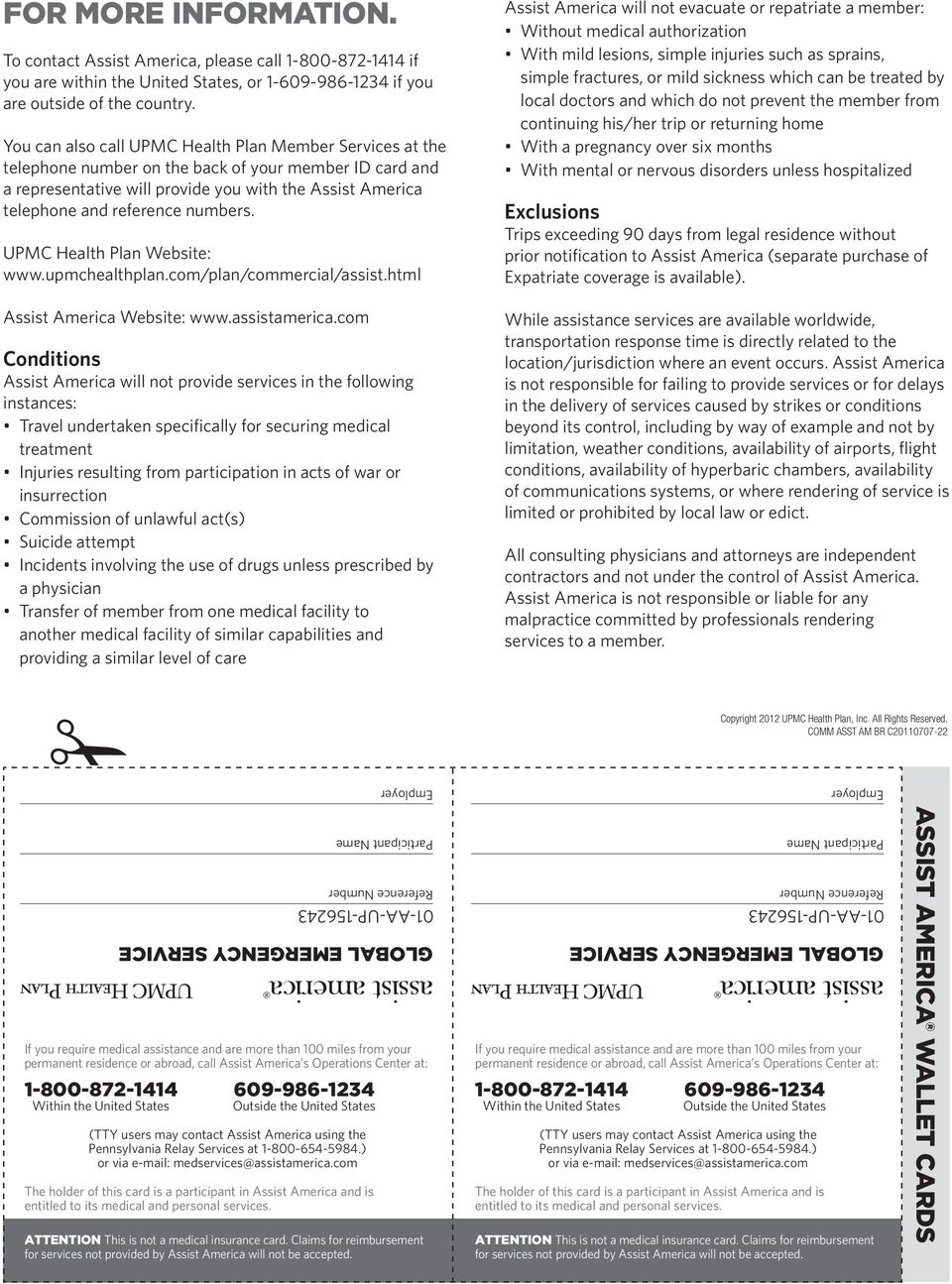 TRAVEL ASSISTANCE PLAN AMAZING! DO WE HAVE SERVICES? YOU BET  - PDF