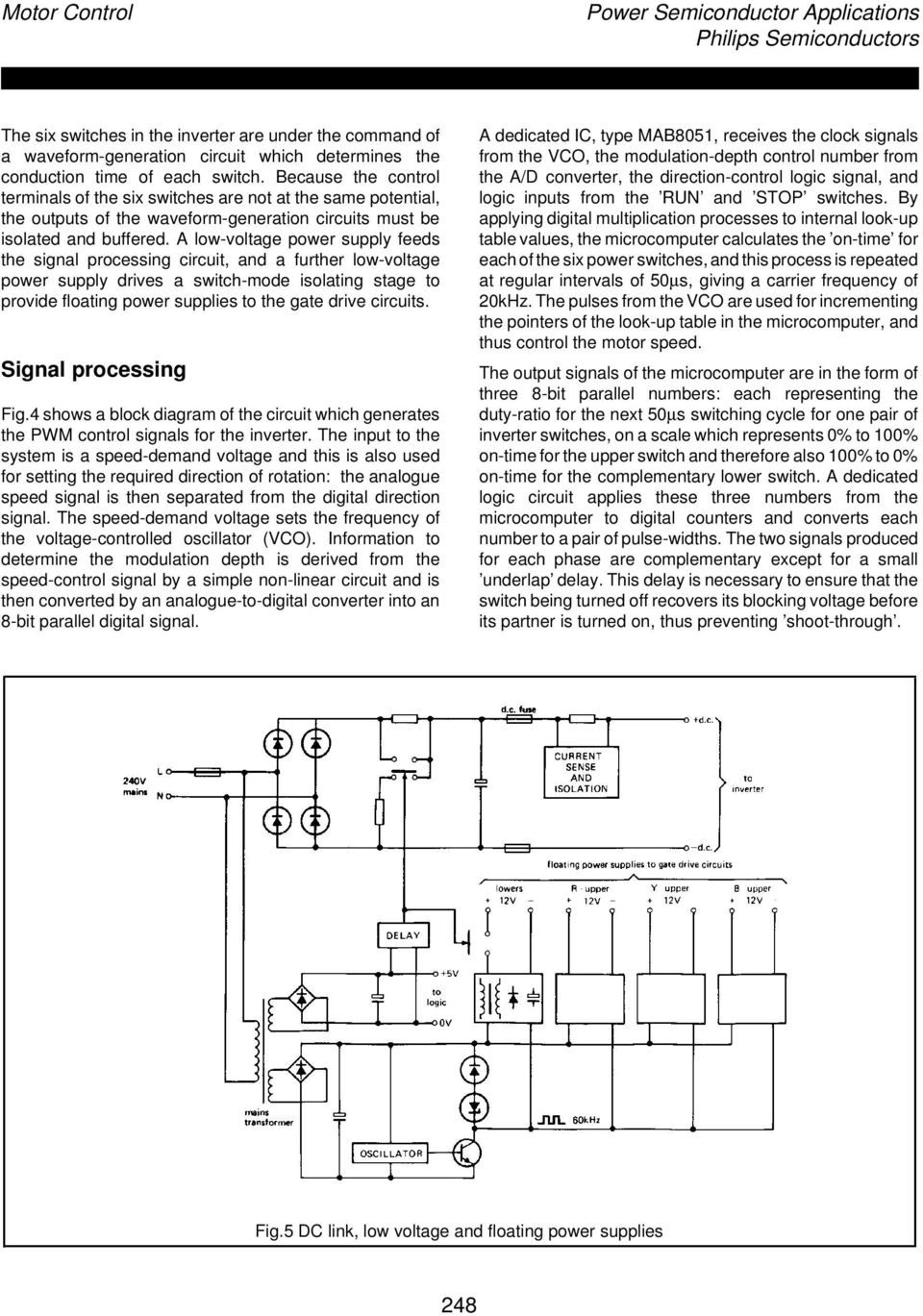 Power Semiconductor Applications Philips Semiconductors Chapter 3 Circuit Schematic Diagram Low Voltage Supply A Feeds The Signal Processing And Further