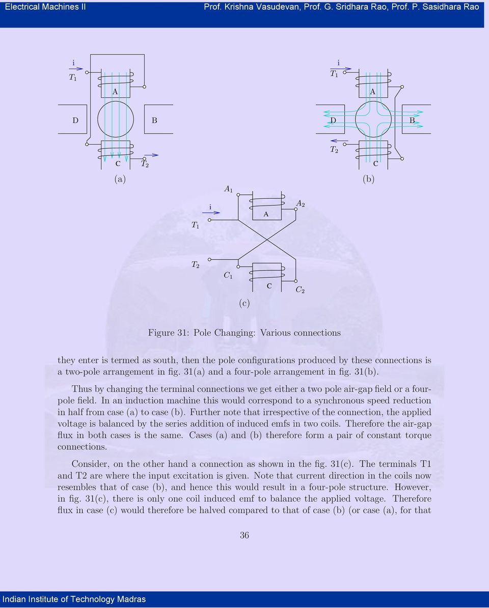 8 Speed Control Of Induction Machines Pdf Constant Airgap Motor Equivalent Circuit Thus By Changing The Terminal Connections We Get Either A Two Pole Air Gap Field