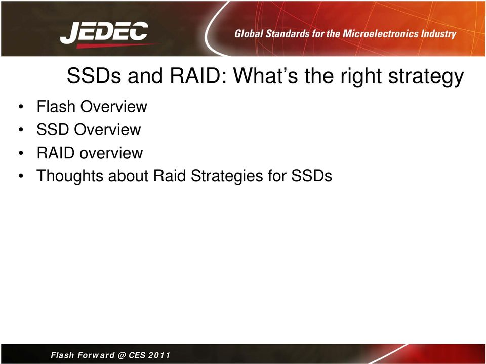 SSD Overview RAID overview