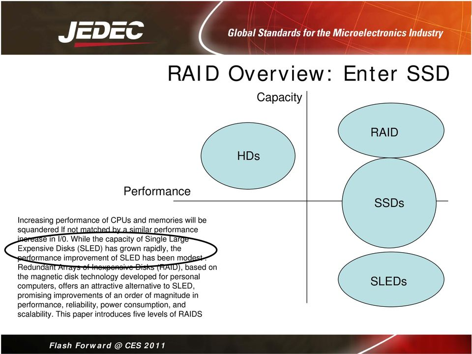 Redundant Arrays of Inexpensive Disks (RAID), based on the magnetic disk technology developed for personal computers, offers an attractive alternative to