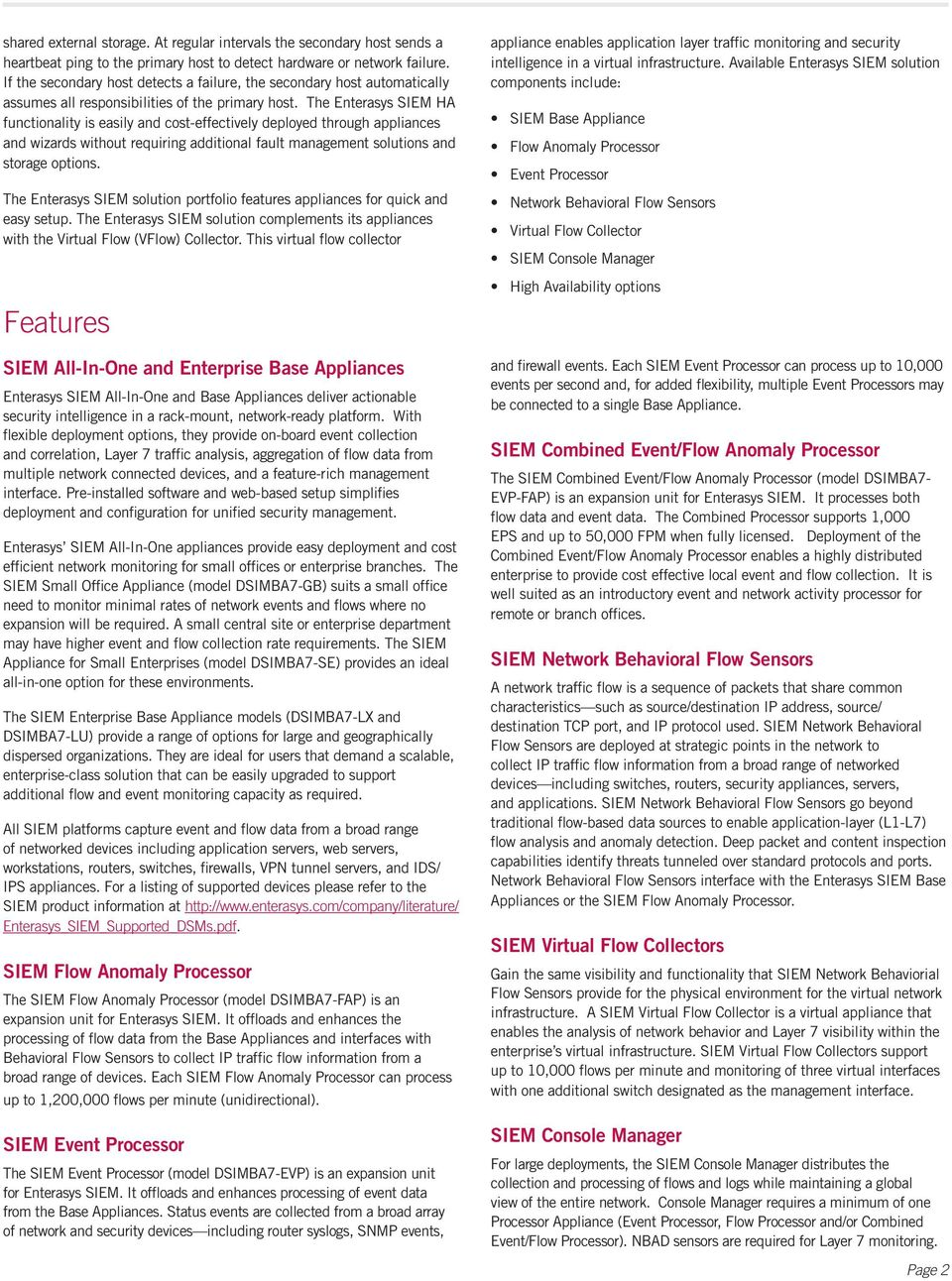 Delivers fast, accurate data about security threats: - PDF