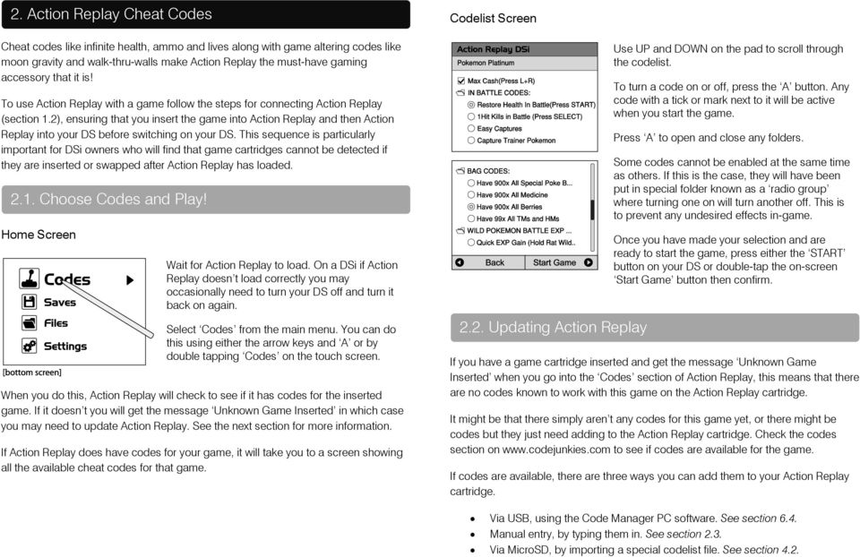 Action Replay DSi User Guide - PDF