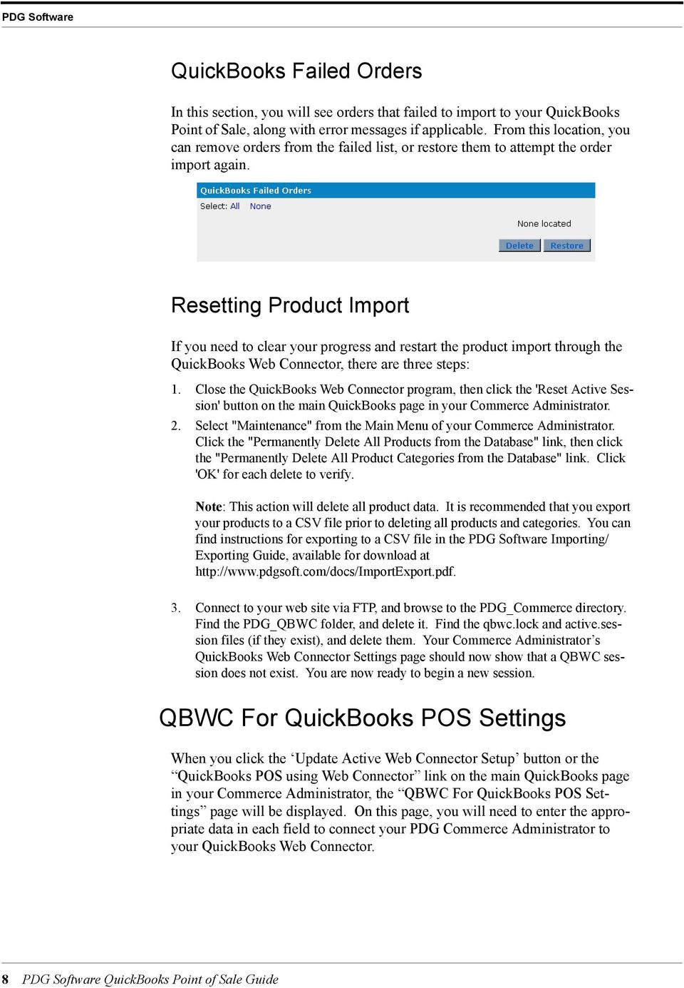 PDG Software  QuickBooks Point of Sale Guide - PDF