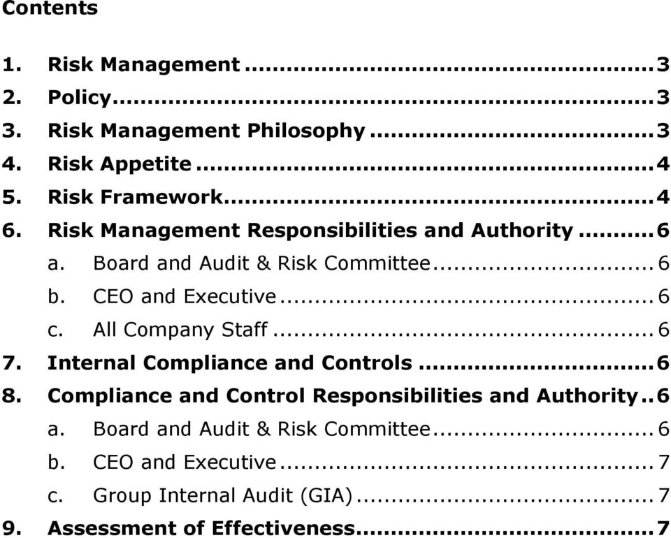 SAI GLOBAL LIMITED Risk Management Policy - PDF
