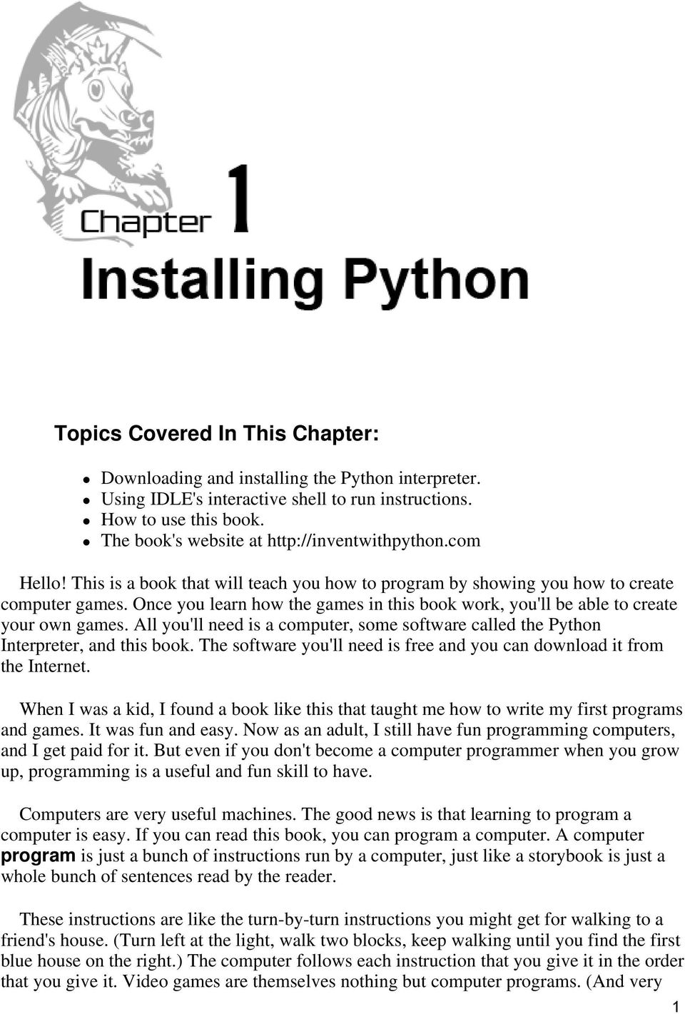 Invent Your Own Computer Games with Python - PDF