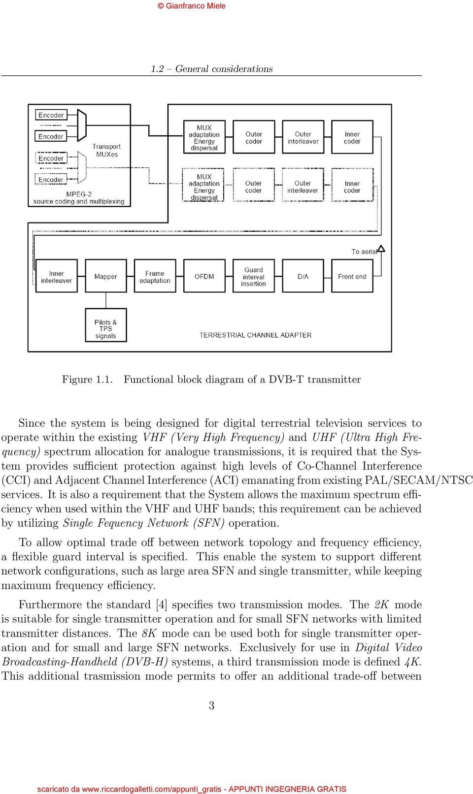 Introduzione Alle Reti Dvb H Pdf Transmitter Block Diagram For Pal System Images Co Channel Interference Cci And Adjacent Aci Emanating From